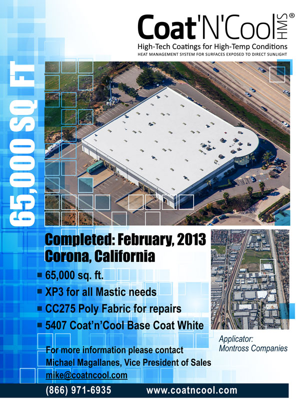 Cool Roof Coatings 65,000 sq  ft